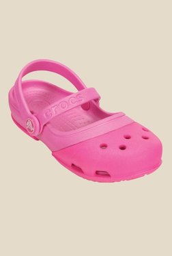89107fc43bc3 Crocs Electro Ii Mj Ps Peach Sandals for girls in India - Buy at ...