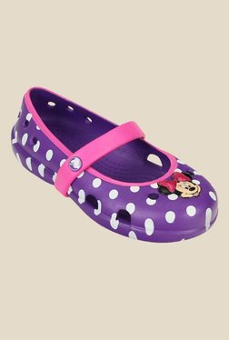 Kids Keeley Disney Minnie Neon Purple Mary Jane Shoes