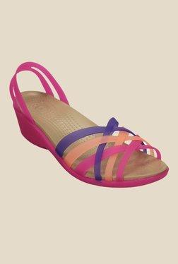 98e773056df8f Crocs Huarache Vibrant Violet   Melon Casual Sandals