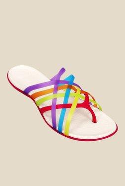 df657e726b80d Crocs Geranium   Yellow Casual Sandals