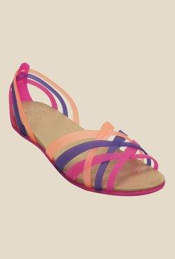 8d0b8c9996d13 Crocs Vibrant Violet   Melon Casual Sandals