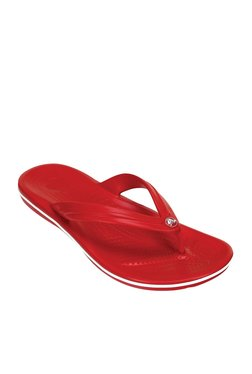 a0525c598023ae Crocs Crocband Pepper Red   White Flip Flops