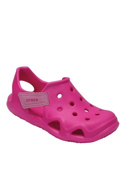Crocs Kids Swiftwater Wave Neon Magenta Casual Sandals