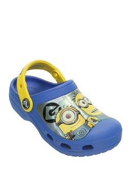 Crocs Kids CC Minions Varsity Blue & Yellow Back Strap Clogs