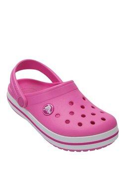 Crocs Kids Crocband Party Pink Back Strap Clogs