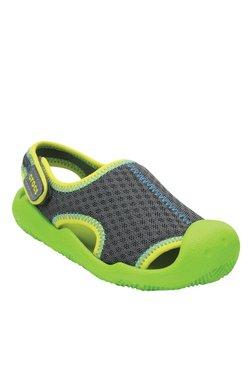 27c0eaca6dfd Crocs Kids Swiftwater Graphite   Volt Green Sandals