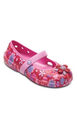 Kids Keeley Springtime Graphic Red & Pink Mary Jane Shoes