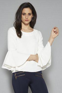 Wardrobe By Westside Off White Latin Blouse