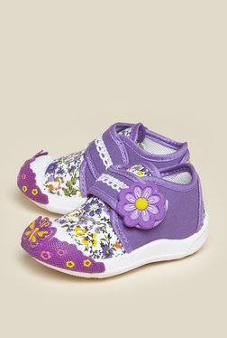 Zudio Purple Floral Printed Loafers