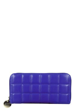 Lino Perros Blue Stitched Quilted Wallet