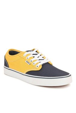 3dd72faa182 Vans Active Atwood Navy   Yellow Sneakers