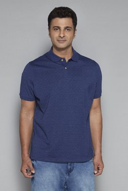 Oak & Keel By Westside Navy Relaxed Fit Polo T-Shirt