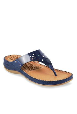 930b5cbd1 Bio-Foot By Metro Blue Thong Sandals