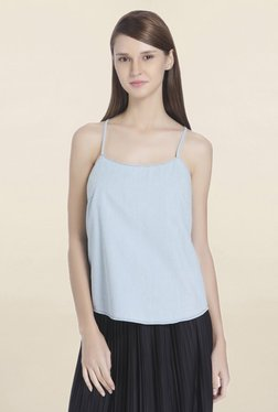 Only Light Blue Round Neck Top