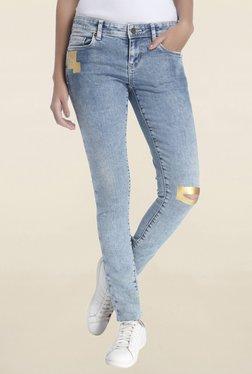 Vero Moda Light Blue Slim Fit Low Rise Jeans - Mp000000001762385