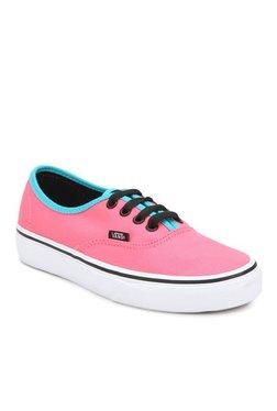 Vans Classics Authentic Neon Pink & Black Sneakers