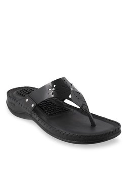 389fa680a1a Bio-Foot By Metro Black Thong Sandals