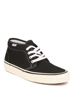 Vans Classics Black & White Ankle High Sneakers