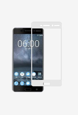 Stuffcool 2.5D Full Screen Tempered Glass For Nokia 6(White)