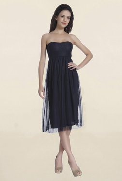 Only Navy Lace Midi Dress