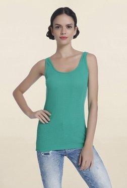 Only Green Scoop Neck Tank Top
