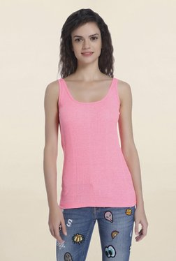 Only Pink Scoop Neck Tank Top