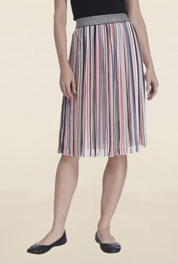 Only Multicolor Striped Skirt