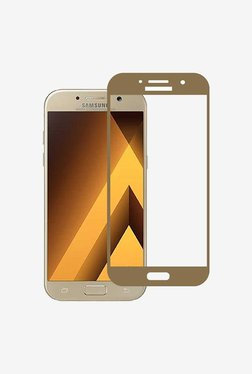 Stuffcool 2.5D Tempered Glass for Samsung A5(Gold)