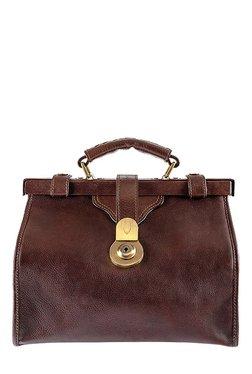 4a30208af6e Hidesign Claudia 02 Maroon Textured Leather Handbag. ₹7295. Hidesign Grazia  Brown Solid Leather Doctors Handbag