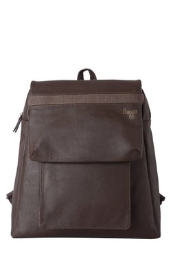 Baggit E Y G Escape Chestnut Solid Backpack
