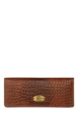 Hidesign Claea W1 Brown Textured Leather Bi-Fold Wallet