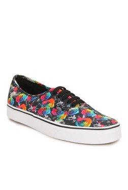 Vans Authentic Rainbow Floral Black & Pink Sneakers