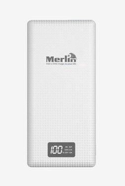 Merlin 20000 MAh Power Bank (White)