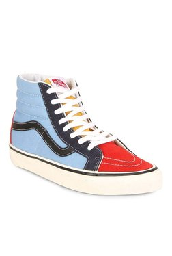 Vans Classics Sk8-hi Reissue Red & Blue Ankle High Sneakers