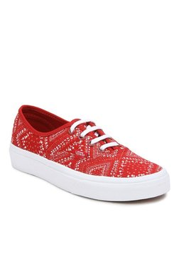 Vans Authentic Ditsy Bandana Chili Pepper Sneakers d8a517b2a