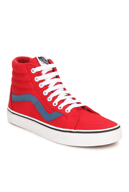 Vans Classics Sk8-hi Reissue Racing Red Ankle High Sneakers b17595419