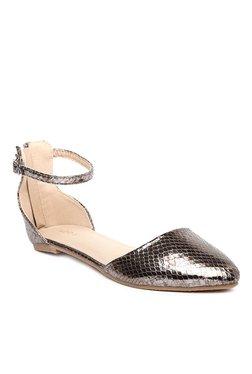 791ffce144e2 Addons Gun Metal Ankle Strap D orsay Sandals