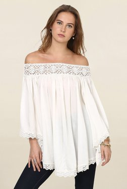 Loomtree Off White Lace Off Shoulder Top