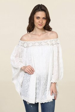 Loomtree White Lace Off Shoulder Top - Mp000000001773520