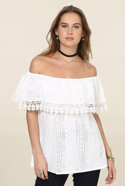 Loomtree White Lace Off Shoulder Top