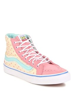 all pink vans high tops