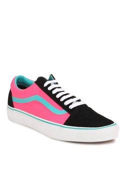 Vans Classics Old Skool Black & Neon Pink Sneakers