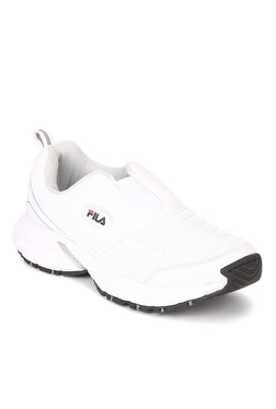 Fila Smash V White & Silver Running Shoes