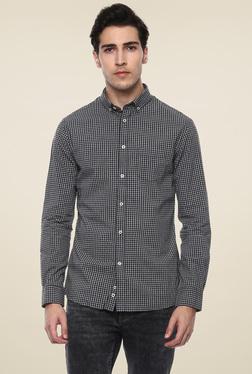 Celio* Black Slim Fit Checks Shirt