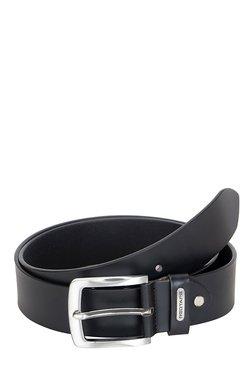 Red Tape Black Solid Leather Belt - Mp000000001778638