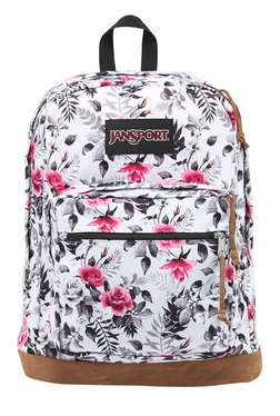 JanSport Right Pack Expressions White Floral Unisex Backpack