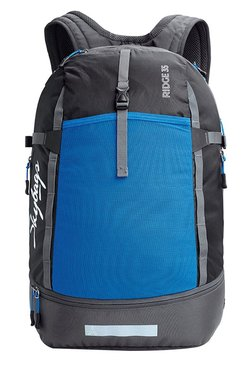 787f8f18ae2d Skybags Ridge 35 Black   Blue Solid Laptop Backpack