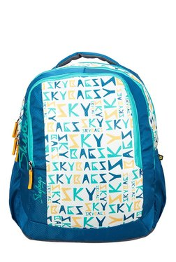 204e54fe87d8 Skybags Footloose Helix 05 Blue   White Printed Backpack