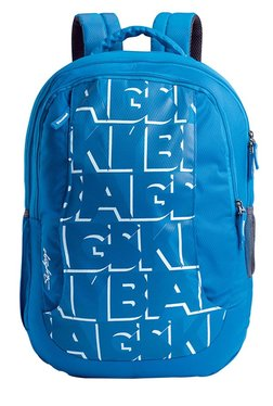 Skybags Pogo Extra 02 Blue Printed Backpack With Pouch