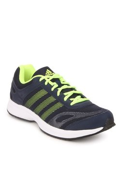 3fa137d28634b Adidas Ryzo Navy   Fluorescent Green Training Shoes
